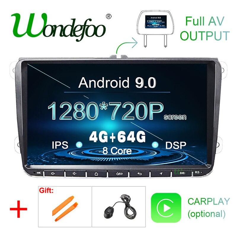 9619.79руб. 44% СКИДКА|DSP Android 9,0 2G16G Автомобильный GPS радио для VW PASSAT B6 B7 V7 Golf 5 6 Tiguan Bora Fabia быстрая для сиденья Leon Altea Toledo без dvd плеера|Мультимедиаплеер для авто| |  - AliExpress