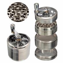 4-warstwa aluminium ziołowe zioło młynek do tytoniu młynki do palenia młynek do zioła młynek do ziół akcesoria do papierosów tanie tanio Pudełko na prezent dsadad Metal