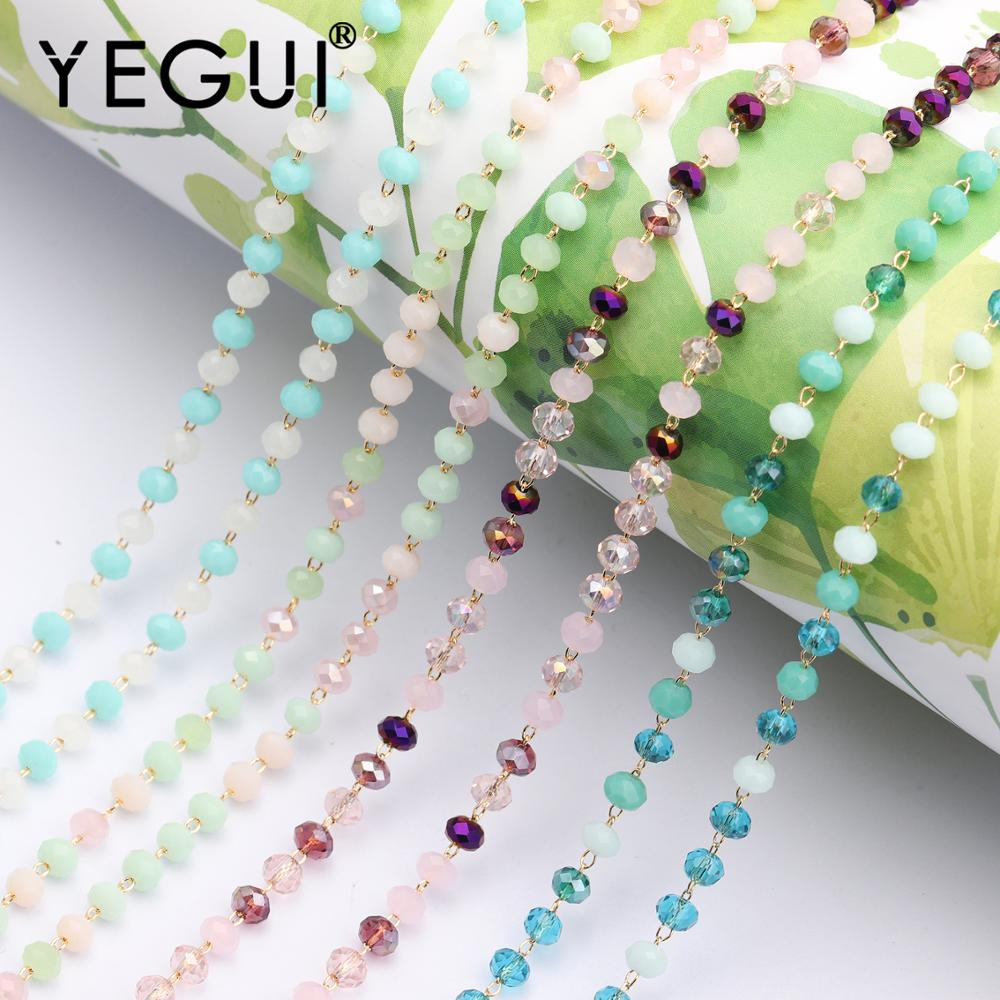 YEGUI C50,jewelry Accessories,18k Gold Plated,diy Bead Chain,hand Made,necklace For Women,diy Necklace,jewelry Making,1m/lot