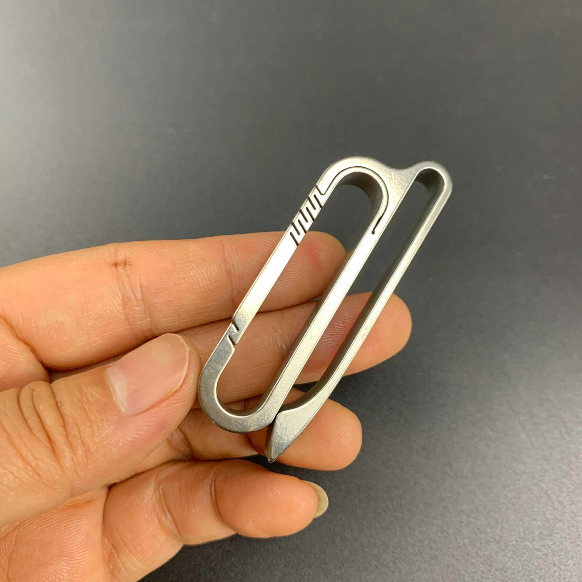 Pure Titanium Belt Loop Keychain With Detachable Clips Belt Key Ring Holder Heavy Duty Belt Key Clip Key Chains Aliexpress