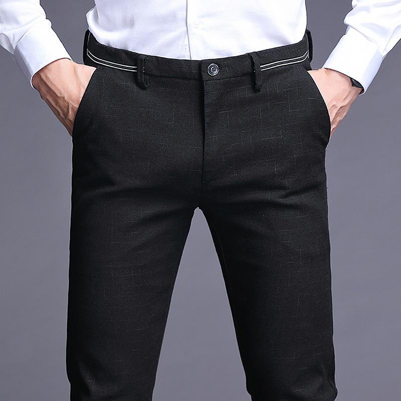 Men Suit Formal Mens Suits Pants Men Plaid Casual Busines Slim Trousers Men Autumn Winter Wedding Dress Flexdress Pants Big Size