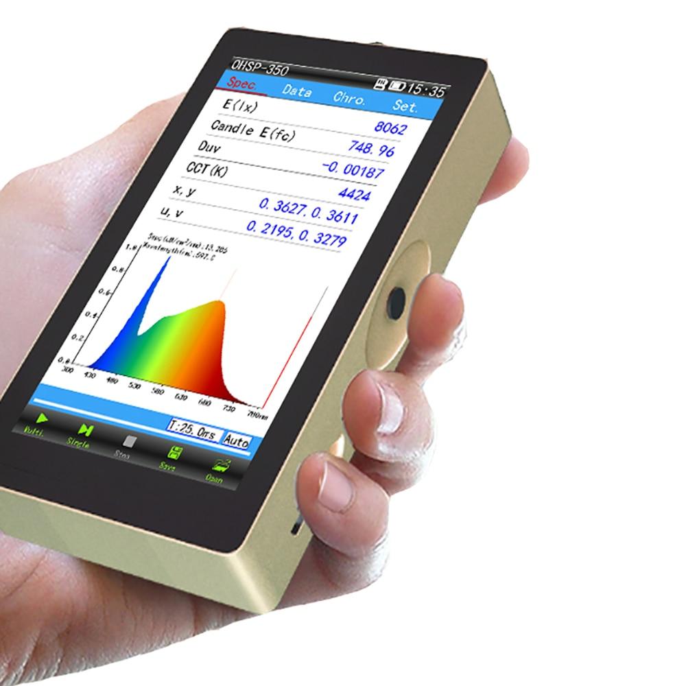 OHSP350C Spectrometer CCT CRI Lux test meter