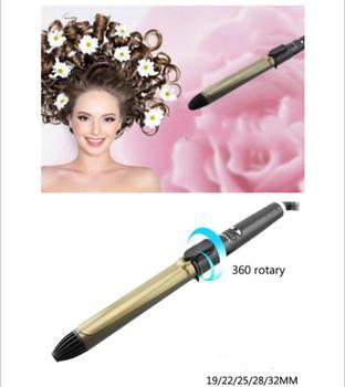 Rizador de pelo eléctrico, autorgiratorio, rizador de pelo giratorio Digital, herramienta de ondulación, Onda de rotación automática, rizador de barril