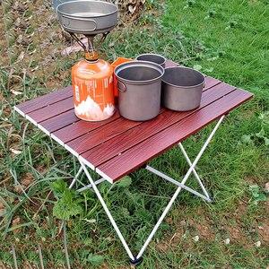 Image 5 - Портативный складной стол для кемпинга и пешего туризма из алюминиевого сплава, новый серебряный кофейный столик для кемпинга