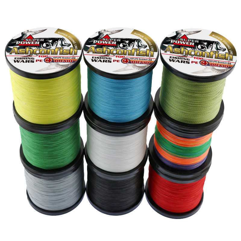 100M 8 Strands PE Braided Line Extreme Fishing Line Ashconfish Strong Spectra
