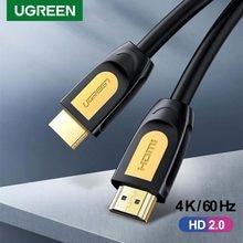 Ugreen 4K/60Hz HDMI-kompatibel 2,0 Kabel Splitter High Speed 2,0 HDMI-kompatibel Kabel für xiaomi Mi Box TV PS4 Gold Überzogene