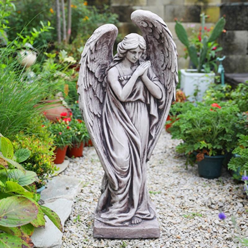 Angel Figure Flower Pot Garden Retro Succulents Potted Large Caliber Ornaments Garden Landscape Decorations M2650