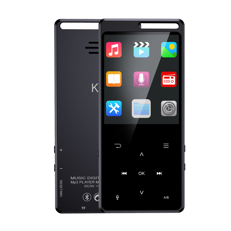 New 5.0 Bluetooth MP3 Touch Screen Portable Music Player Multi-lingual MP3 Support Radio FM 128G TF OTG Bluetooth Headphone