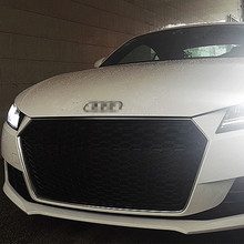TT TTRS Style ABS Chrome Frame Car Front Bumper Honeycomb Mesh Grill Grille for Audi TT MK3 Typ 8S 2016
