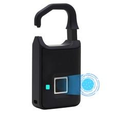 Отпечаток пальца замок умный замок Домашний багажный шкафчик для общежития Открытый водонепроницаемый Противоугонный замок безопасности без ключа электронный замок
