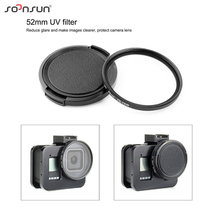 Image 4 - SOONSUN Aluminum Alloy Multi angle Shooting Cage Protective Frame Case Mount with 52mm UV Lens Filter for GoPro Hero 8 Black