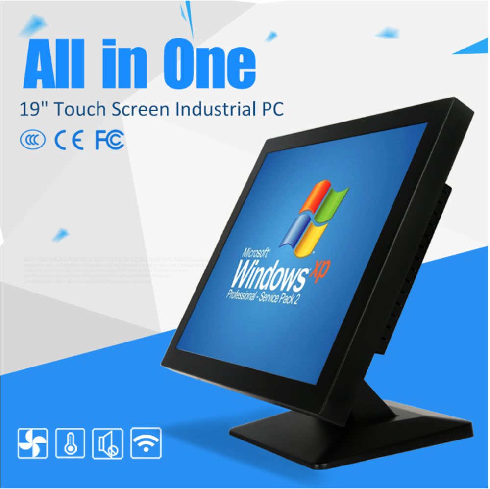 19 Inch Industrial Panel Led Touch Screen Wall Hanging White All In One Computer
