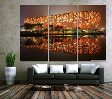Modern Colorful Photo Picture Artistic Building Birds Nest Room Decor Cities Canvas Art Painting Living