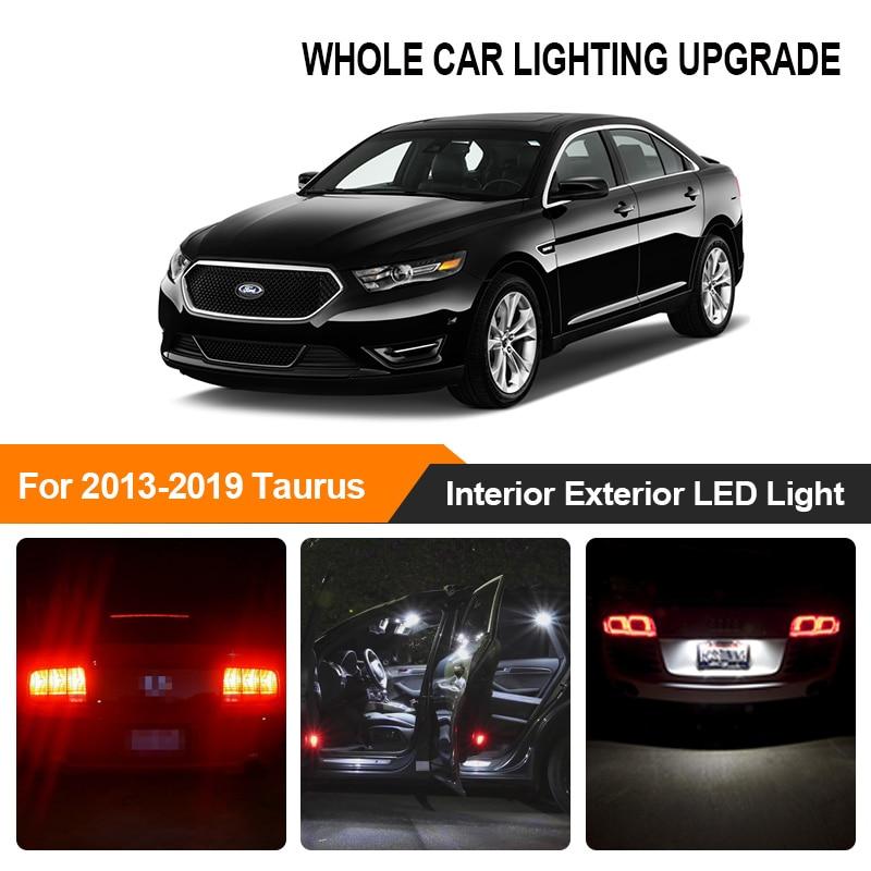 White Red Car Bulbs Exterior Interior LED Light For 2013 2014 2015 2016-2019 Ford Taurus Reverse Brake Parking Turn Signal Lamp