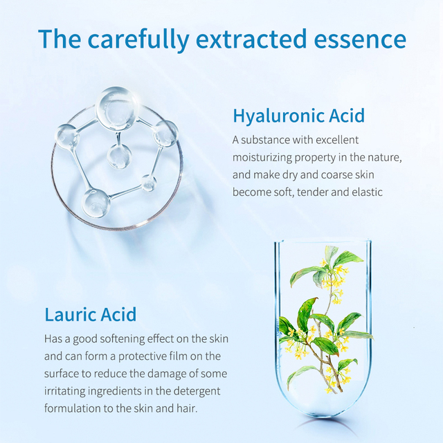 LANBENA Hyaluronic Acid Facial Cleanser Anti Aging Wrinkle Refresh Nourishing Bubble Washing Firming Brighten Facial Cleaning