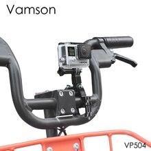 Vamson for Go Pro Accessories Bike Motorcycle Handlebar Pole Mount For Gopro Hero 8 7 6 5 4 for SJCAM Mijia for yi 4K VP504