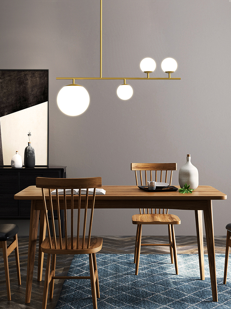 Image 3 - Modern Nordic Simple Black/Golden LED bedroom Pendant lights home decor Glass Ball Hanging lamps Dining room lighting fixturesPendant Lights   -