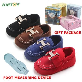 AMTOY Unisex Baby Boys Girls Shoes Soft Anti-slip Sole Newborn Infant First Walkers Shoes 0-3-6-12-18 Months Skin Friendly Hlogo 1