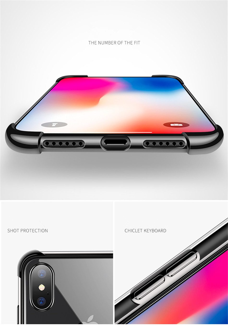 He504cf0cb413404e8401d88ce4fe1793d - USLION Shockproof Armor Clear Case For iPhone 11 Pro Max XS Max XR X 8 7 6 6s Plus 5 5s SE Transparent Phone Cases Airbag Cover