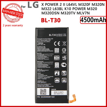 100% Original 4500mAh BL-T30 Battery For LG X Power 2 II L64VL M320F M320N M322 L63BL K10 Power M320 M320DSN M320TV MLV7N image