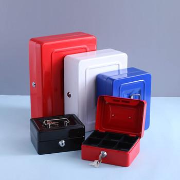 Schowek skarbonka ze skarbonka skarbonka metalowe bezpieczne pudełko z biżuterią szafka tajne pudełko do przechowywania skarbonka pudełko na monety sejf pieniądze tanie i dobre opinie CN (pochodzenie) iron Ekologiczne 41-65 sztuk cukierków Europejska Błyszczący Rectangle biżuteria 60*40*30 cm Pudełko na biżuterię