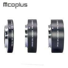 Mcoplus focagem automática macro extensão lente tubo anel 10mm 16mm 21mm para panasonic olympus micro 4/3 m4/3 montagem câmera