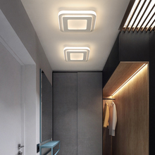 Modern LED Ceiling Chandeliers for bedroom bedside Aisle corridor balcony Entrance Square round LED Chandeliers for home