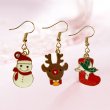 Diy new arrival before the Christmas earrings for women jewelry gift wholesale rhinestone
