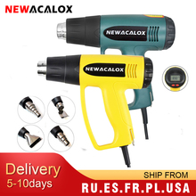 Nozzle Heat-Guns Thermoregulator Eu-Plug Industrial Electric 2000W 220V NEWACALOX LCD