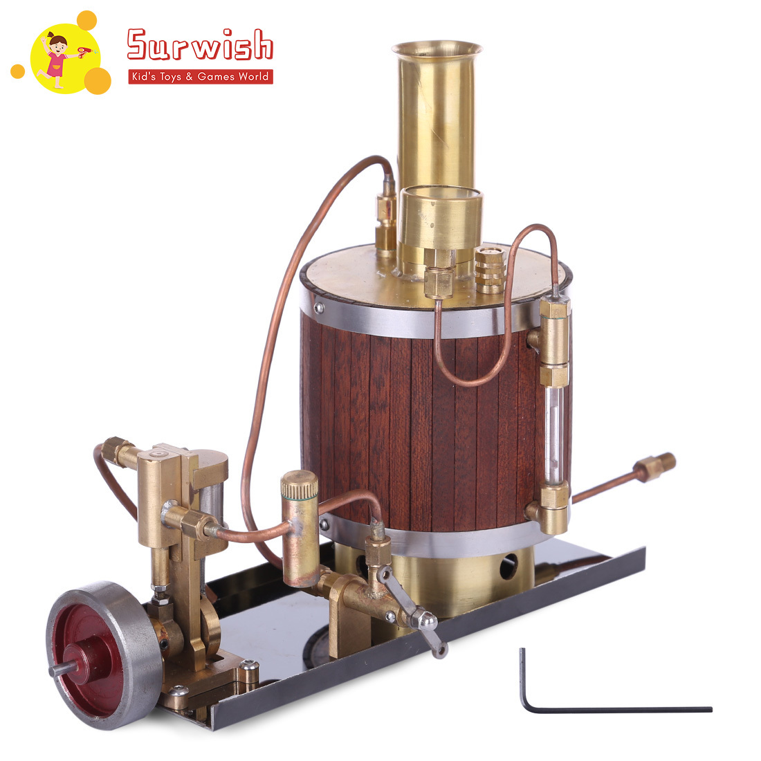Mini Steam Engine Model With Boiler And Base Set