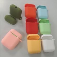 Dla Apple i9s i10 i11 i12 bezprzewodowy zestaw słuchawkowy bluetooth miękkiego silikonu pokrowiec ochronny case shell schowek i12 słuchawki przypadki tanie tanio STARSTRING CN (pochodzenie) 55*45*23 for Apple i9s i10 i11 i12 1 2mm naked packing price please contact us for other packing