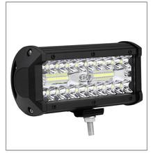 цена на 4x4 off-road LED light bar for hybrid car beam off-road off-road vehicle ATV tractor boat truck excavator 12V 24V work light