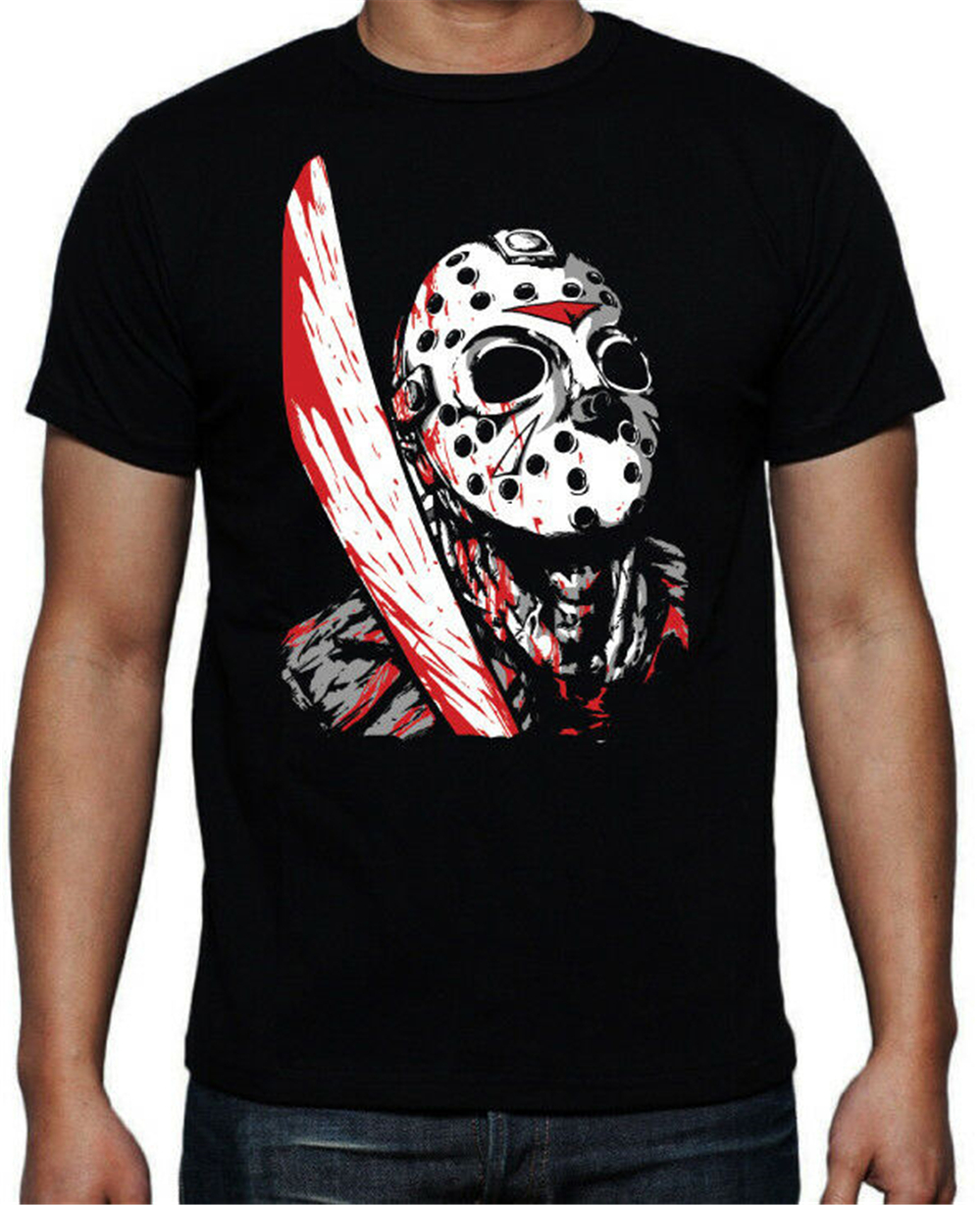 Friday The 13Th Slasher Horror Movie Jason Voorhees Mens Film Black New T-Shirt Unisex Men Women Tee Shirt image