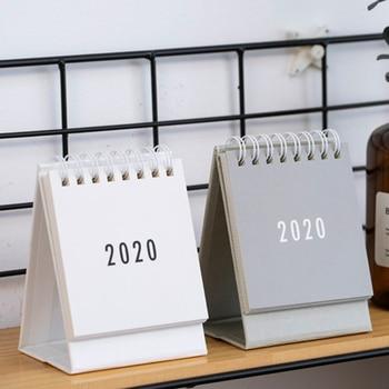 2020 Desk Calendar Foldable Flip Calendar Simple Style for Home Bedroom Office Decor ENA88