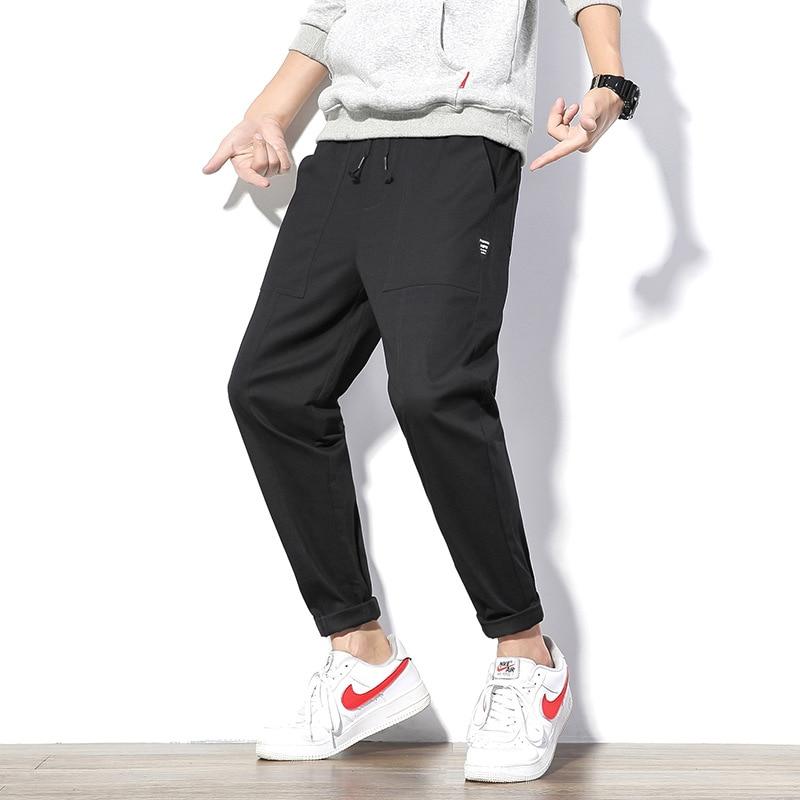 Spring New Style Pure Cotton Capri Casual Pants Men Fashion Comfortable Bai Da Xiao Feet Long Pants