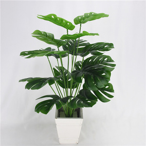 49cm 18Heads Artificial Green Monstera Leaves Home Garden Living Room Bedroom Decoration Fake Plants
