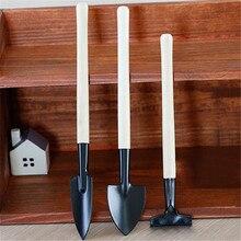 3 шт. мини садовый набор инструментов для растений с деревянной ручкой садовая лопата грабли наборы LFD