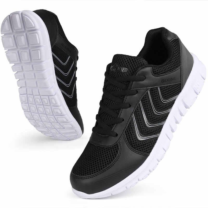 נעלי ריצה 2020 אופנה מוצק לנשימה רשת נעליים יומיומיות אישה שרוכים יוניסקס ספורט נעלי נשים נעלי ספורט