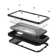 Тяжелый защитный бак алюминиевый сплав металлический защитный чехол мобильный телефон чехол для iphone 5 se 6 7 8 plus x s xr max 11 pro max