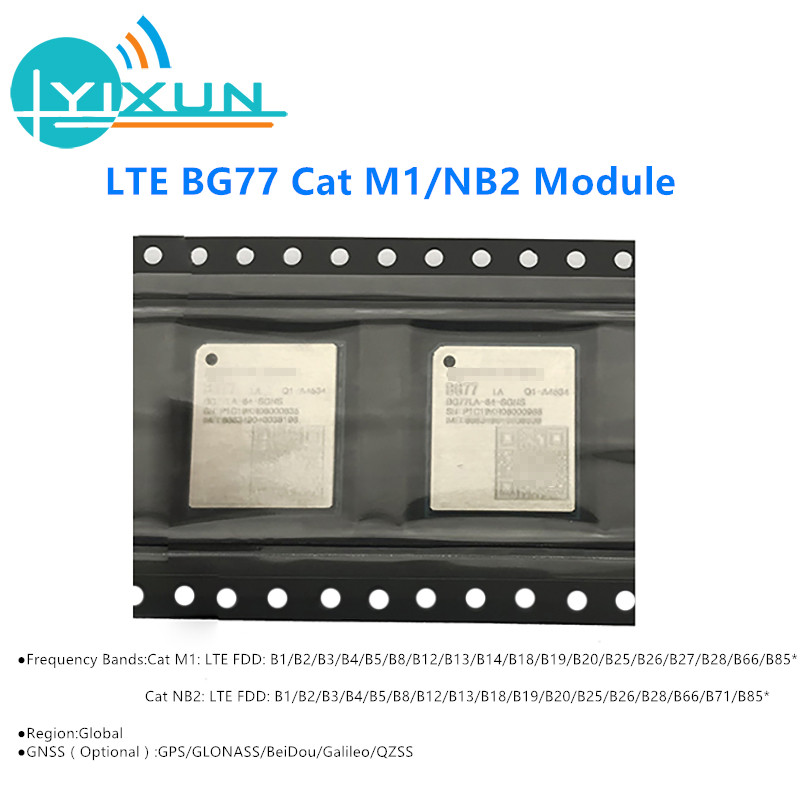BG77 Ultra-Compact LTE Cat M1/Cat NB2 Module 588Kbps Downlink And 1119Kbps Uplink Integrated RAM And Flash In Baseband Chipset