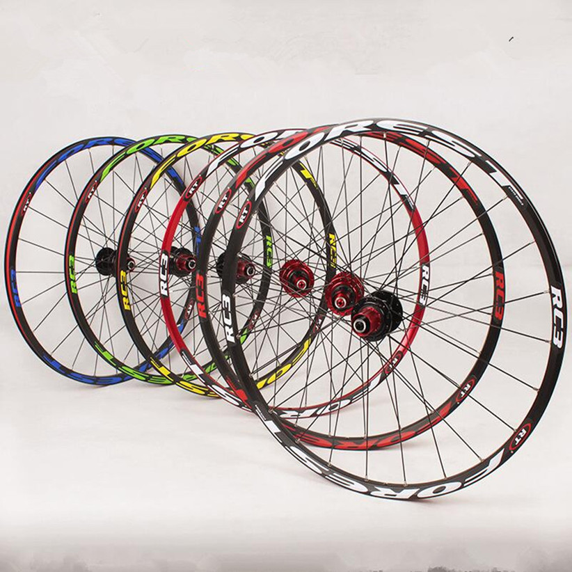 RT RC3 26 27.5inch MTB Mountain Bike Bicycle Super Smooth Flat <font><b>Spokes</b></font> <font><b>Wheel</b></font> Front 2 Rear <font><b>5</b></font> Bearing Hub Wheelset image
