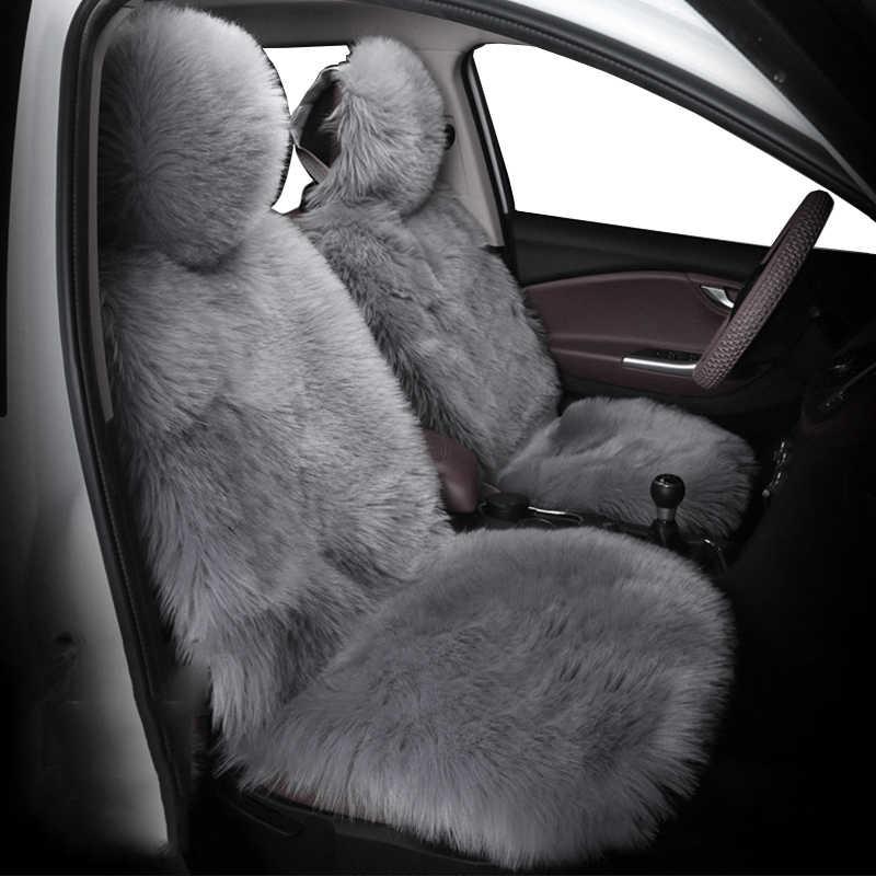 Аксессуары для автомобильных сидений, зимние шерстяные кашемировые чехлы с мехом на заднюю часть, чехлы для автомобильных сидений, автомобильные аксессуары для fiat 500