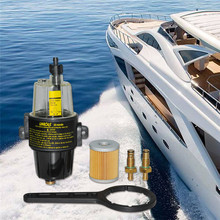 UF-10K Car Gasoline Engine Yacht Boat Diesel Fuel Filter Water Separator Assembly Automobiles Fuel Filters Accessories+wrench diesel fuel filter assembly for pl420 612600082775 612600081294 electric pump filter