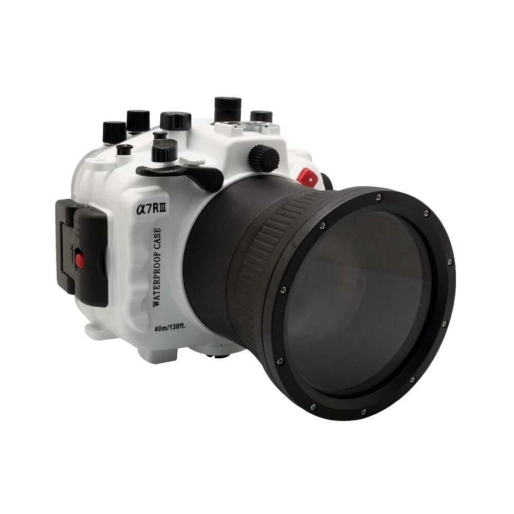 3 couleurs 40 m/130ft pour Sony A7 III A7R3 A7RIII A7III A7M3 90mm lentille sous-marine boîtier de la caméra boîtier de plongée housse étanche