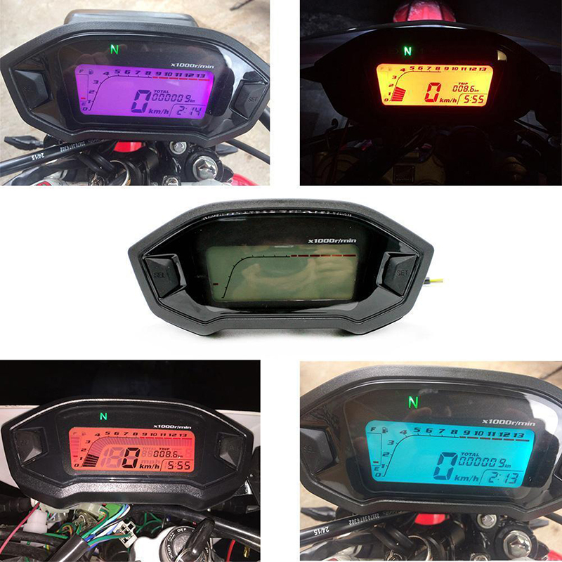 Tachometer LCD Digital Speedometer Gauge Motorcycle Digital Universal LCD Accessories Fashion Brand New Hot Durable image