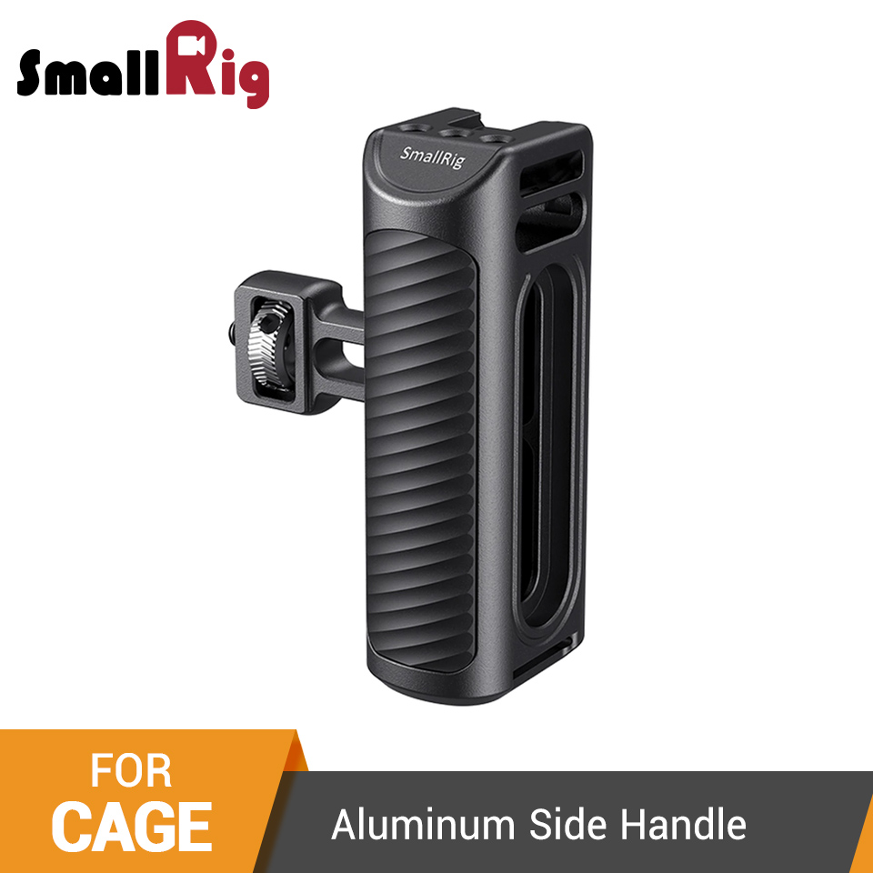 SmallRig Mobile Phone Cage Handle Aluminum Side Handle With Cold Shoe for Universal Smartphone Cage Quick Release Handgrip -2424(China)