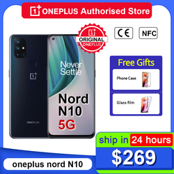 Global Version OnePlus Nord N10 5G Smartphone Snapdragon 690 Android 10.0 90Hz Display 64MP Quad Cams Warp 30T NFC Mobile Phone