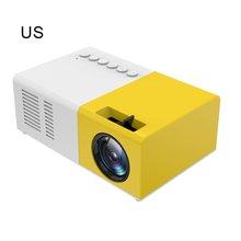 LED Projector Beamer YG300 Portable 1080P Pocket Home USB HD Mini Theater J9 Tf-Card
