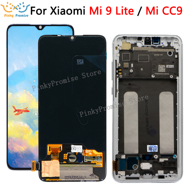 6.39 Super AMOLED For Xiaomi Mi CC9 LCD Display Touch Screen Digitizer Assembly Replacements Parts For Mi 9 lite M1904F3BG lcd