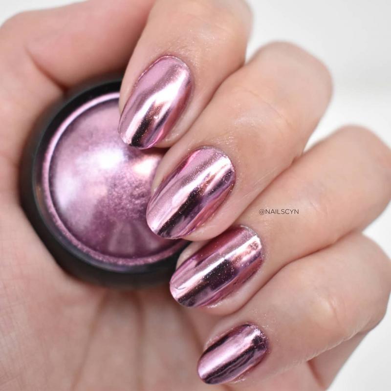 Розовое золото пузырь зеркальный порошок металлик блеск для ногтей голографика хромированная пыль сверкающие хлопья пигмент маникюр Диза...